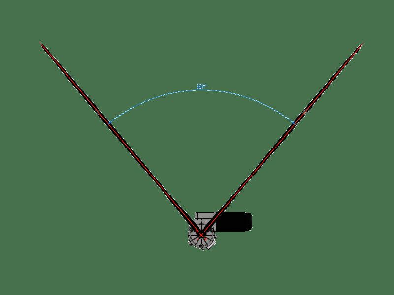 Exemple d'un système EV avec angle de 80°